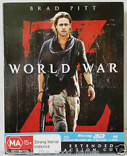 Movie Film WORLD WAR Z (2013) Blu-Ray 2D & 3D / DVD Brad Pitt - Ext. Action Cut