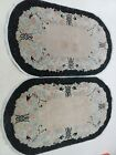 """Two 1920s Antique Vegetable Dye Art Deco Peking Hand-Knotted Wool Rugs 50"""" x 33"""""""