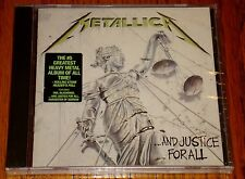 METALLICA AND JUSTICE FOR ALL CD STILL FACTORY SEALED WITH HYPE STICKER!