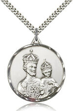 "Saint Joseph Medal For Men - .925 Sterling Silver Necklace On 24"" Chain - 30 ..."