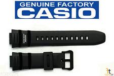 CASIO AE-2000W-1 Original 16mm Black Rubber Watch Band Strap WV-200