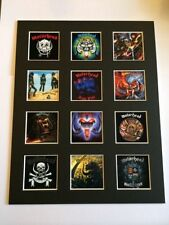 """Motorhead 14"""" by 11"""" LP Discography Covers Picture Mounted Ready to Frame"""