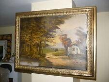 Dipinto a olio cornice barocca fine 800