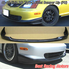 TR Style Front Bumper Lip (Urethane) Fits 02-05 Honda Civic 3dr EP3