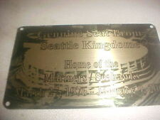 SEATTLE KINGDOME   Stadium seat PLAQUE FORMER HOME OF THE MARINERS AND SEAHAWKS