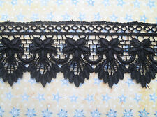 "Laces Galore~ Beautiful Black Soft Guipure Lace  5 cm/2""  Craft Trim Sew"