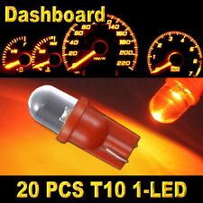 20x Amber T10 W5W 194 168 2825 1-LED Wedge Light Bulb Car Dashboard Side Lamp