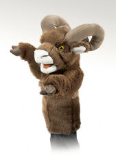 New Plush Soft Toy Folkmanis 2985 Bighorn Big Horn Sheep Stage Hand Puppet 38cm