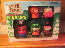 """SOUTH PARK 5-PACK WIND-UPS CHEF, STAN, KYLE, KENNY, CARTMAN 3"""" TO 4""""!!!"""