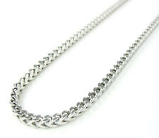 22 Inches 2.5mm Mens Ladies White Gold Sterling Silver Franco Italy Made Chain