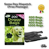 1000 x DOGGY BAGS Scented Dog Cat Puppy Poo Waste Easy Tie Scooper Poop Disposal
