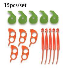 Orange Citrus Peelers, Cosmer Set of 15 Plastic Easy Slicer Cutter Peeler Opener
