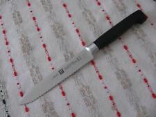 """ZWILLING J.A. HENCKELS FOUR STAR HIGH CARBON 5"""" SERRATED KNIFE NEW, GERMANY"""