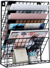 File Organizer Vertical Wall Hanging Magazine Holder 5 Tier For Home And Office