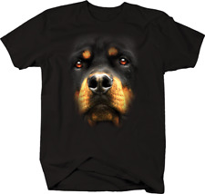 Rottweiler Dog Face Animal Lover Paws Pet Family T-shirt