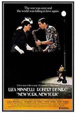 NEW YORK NEW YORK Movie POSTER 27x40 Robert De Niro Liza Minnelli Lionel Stander