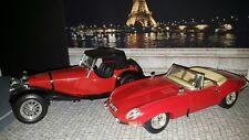 LOT 2 Jaguar type E et ss100 1937 Burago 1/18 loose