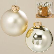 champagner, Ø 4 cm Othmar 112008 Christbaumkugel-Set aus Glas glänzend /& matt