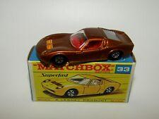 Matchbox Superfast No 33 Lamborghini Miura BRONZE BODY NMIB VERY RARE F Box
