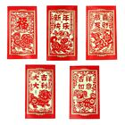 6PCS Paper Cutting Dog Big Chinese New Year Money Envelopes Hong Bao Red Packet