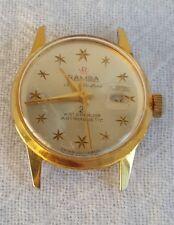VTG 1960s RAMBA Super De Luxe 21 Compressor Waterproof Watch Parts or Repair