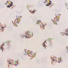 Australiana Animals Cotton Blend Sheet Fabric Koala Signed Trish Hart