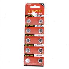 10PCS 1.5V AG5 393 LR48 LR754 SR48 SR754 RW28 Alkaline Single Use Watch Battery