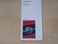 53218) Subaru Legacy Justy SVX Preise & Extras Prospekt 01/1993