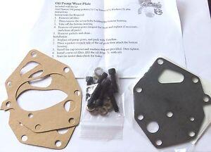 OIL PUMP PLATE KIT, NEW for all AMERICAN MOTOR (AMC) V8 motors 290 CI