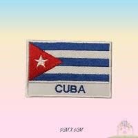 Cuba National Flag With Name Embroidered Iron On Patch Sew On Badge Applique