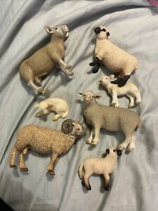 Herd Of Vintage SCHLEICH Sheep Farm Life Free Post (Acc368)