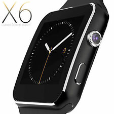 SMARTWATCH OROLOGIO iPhone ANDROID IOS CON SIM BLUETOOTH SMART WATCH X6 NERO