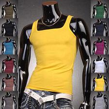 Canottiera Canotta T-shirt Uomo SLim-Fit Men Top Tank D100 Multicolor Multisize