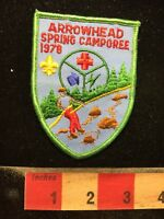 Vtg 1978 BSA Patch Boy Scouts Arrowhead Spring Camporee 70WC