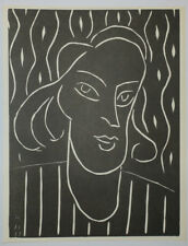 "Henri Emile Benoît MATISSE ""Teeny"" 1938, Linogravure"