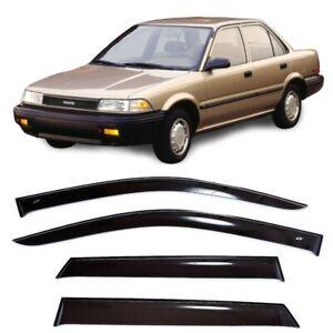 For Toyota Corolla Sd E90 1987-1991 Side Window Sun Visors Guard Vent Deflectors