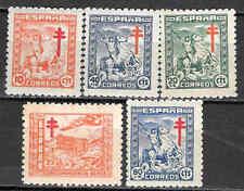 Spain Edifil # 984-988 * MH Pro tuberculosos 1944