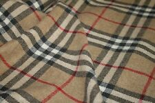 Burberry plaid fabric wool for coats.Beige burberry fabric