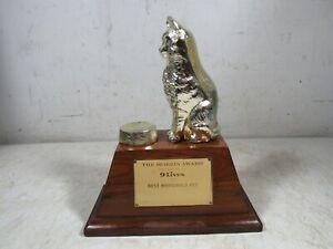 Vintage 1982 9-Lives Cat Food Morris The Cat Best Household Pet Award Trophy