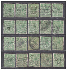 New listing Great Britain Scott# 159 or #177 or #187 Perfins used collection of 20