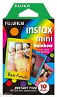 10 Fuji Instax Mini 8 Film Rainbow Frame Design for Mini 90 50s 25 7s Fujifilm