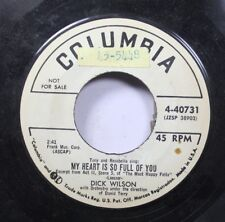 50'S & 60'S 45 Dick Wilson - My Heart Is So Full Of You / My Mission In Life On