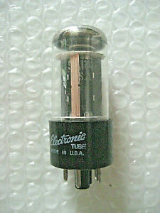 1 x 5AR4 GZ34 GE Rectifier - TV-7 Tested NOS - Matched Sections - 1966