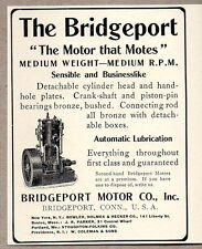 1907 Print Ad Bridgeport Motor Co. Connecticut Motor that Motes