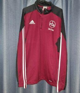FC Nürnburg Adidas 1/4 Quarter Zip Top Football Jumper Large FCN Top Nt Shirt