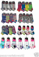 6 Pairs Ladies Trainer Socks Women Funky Designs Girls Liner Sports Adults 4-7
