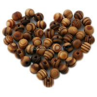 Free shipping 100Pcs Brown Wood Spacer Loose beads Bracelets findings charms 8mm