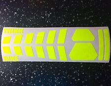 Fluorescent yellow SAFETY strips Helmet Sticker daytime Hi Viz THINK BIKE TT