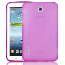 Samsung Galaxy Tab 3 - FROST PINK Minisuit Rubber Grip TPU Girls Case Cover NEW