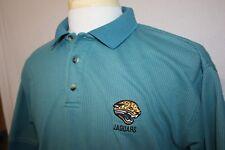 Vtg Jacksonville Jaguars Teal S/S 50/50 Polo Shirt Embroidered Sz L